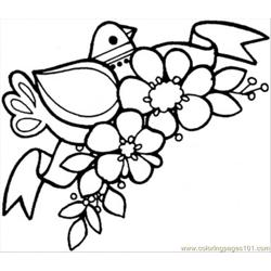 Spring Came Free Coloring Page for Kids