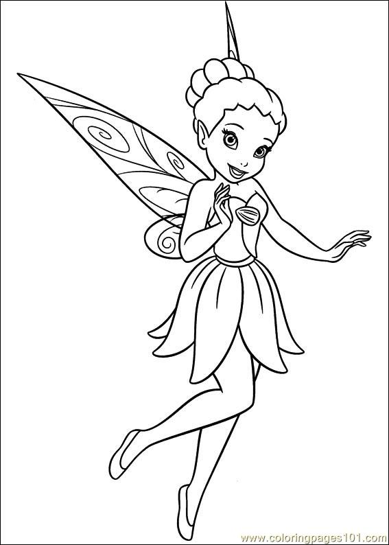 Tinkerbell Secret Of The Wings 10 Coloring Page