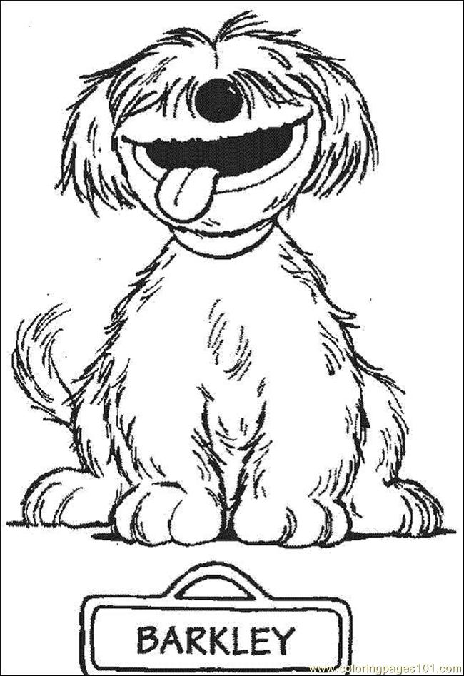 Barkley Coloring Page Free Sesame Street Coloring Pages