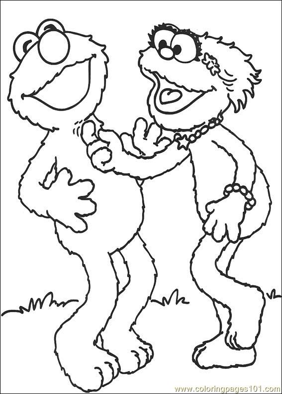 sesame street 04 coloring page free sesame street coloring pages