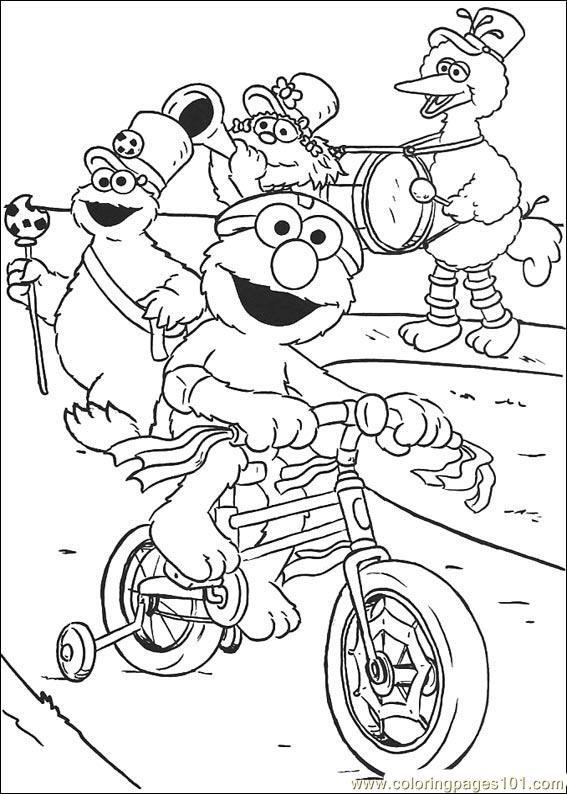 sesame street holiday coloring pages - photo#30
