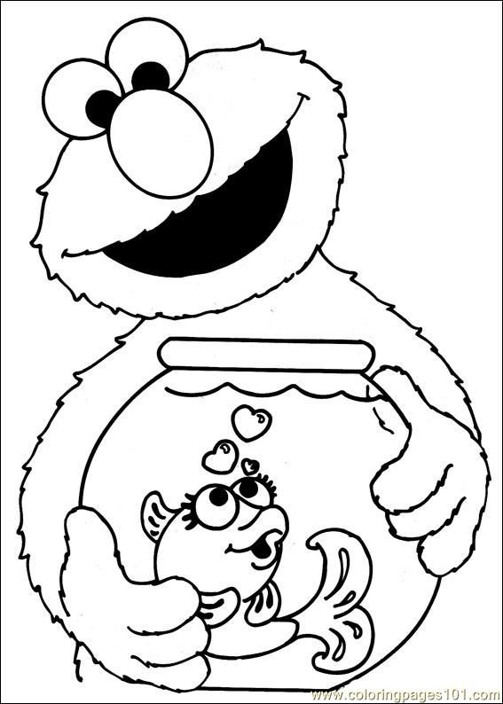 Sesame Street 35 Coloring Page - Free Sesame Street Coloring Pages ...