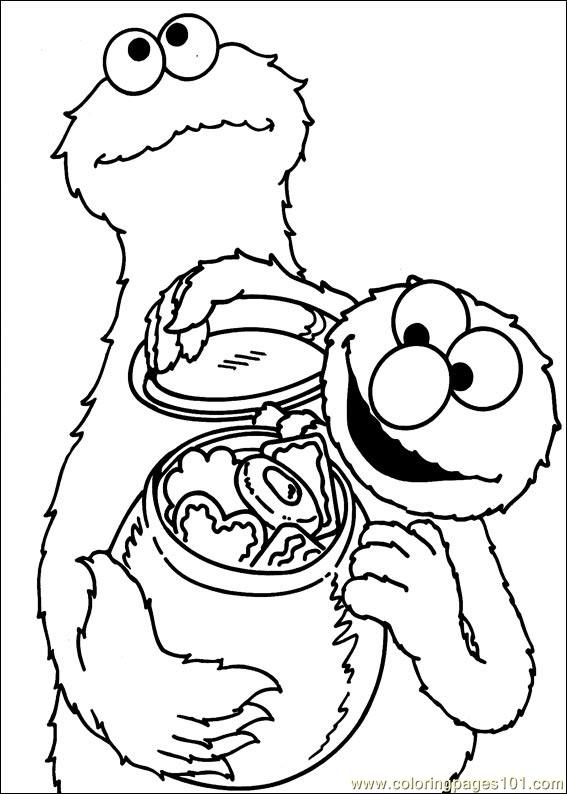 Sesame Street 43 Coloring Page Free Sesame Street
