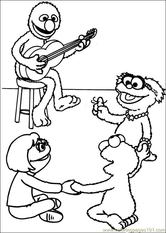 Sesame Street 44 Coloring Page