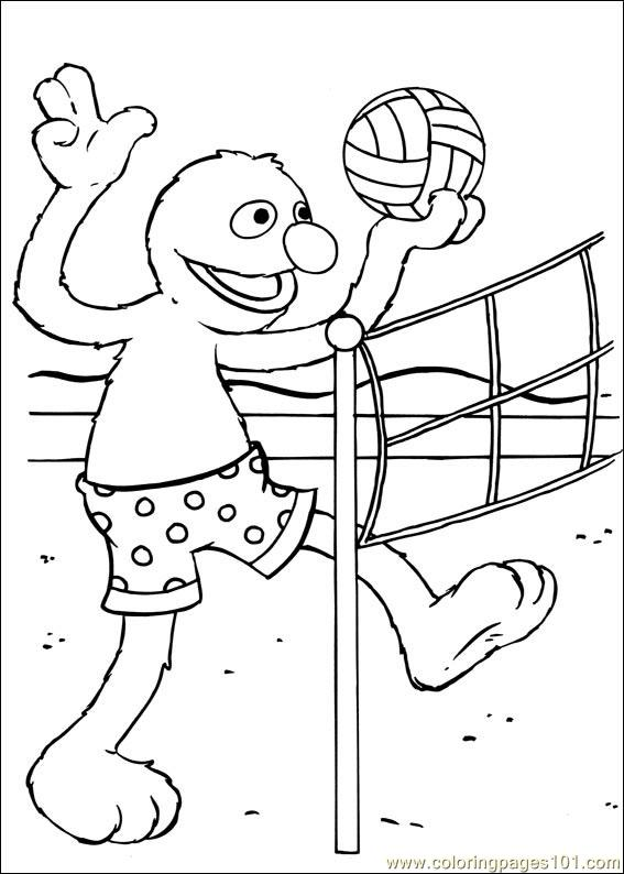 Sesame Street 48 Coloring Page