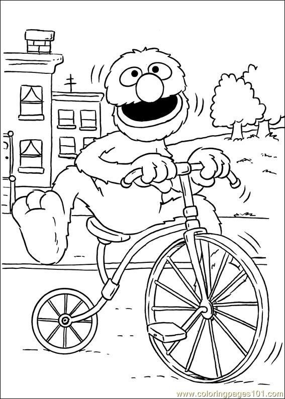 sesame street sign coloring pages - photo#23