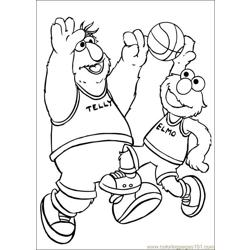 Sesame Street 53 coloring page
