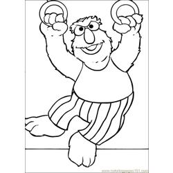 Sesame Street 61 Free Coloring Page for Kids