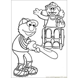 Sesame Street 64 Free Coloring Page for Kids