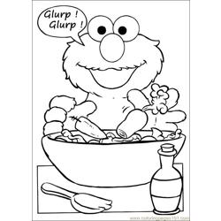 Sesame Street 66 Free Coloring Page for Kids