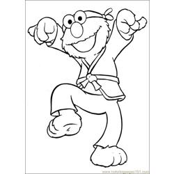 Sesame Street 67 Free Coloring Page for Kids