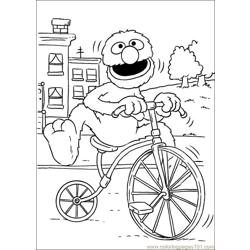 Sesame Street 70 Free Coloring Page for Kids
