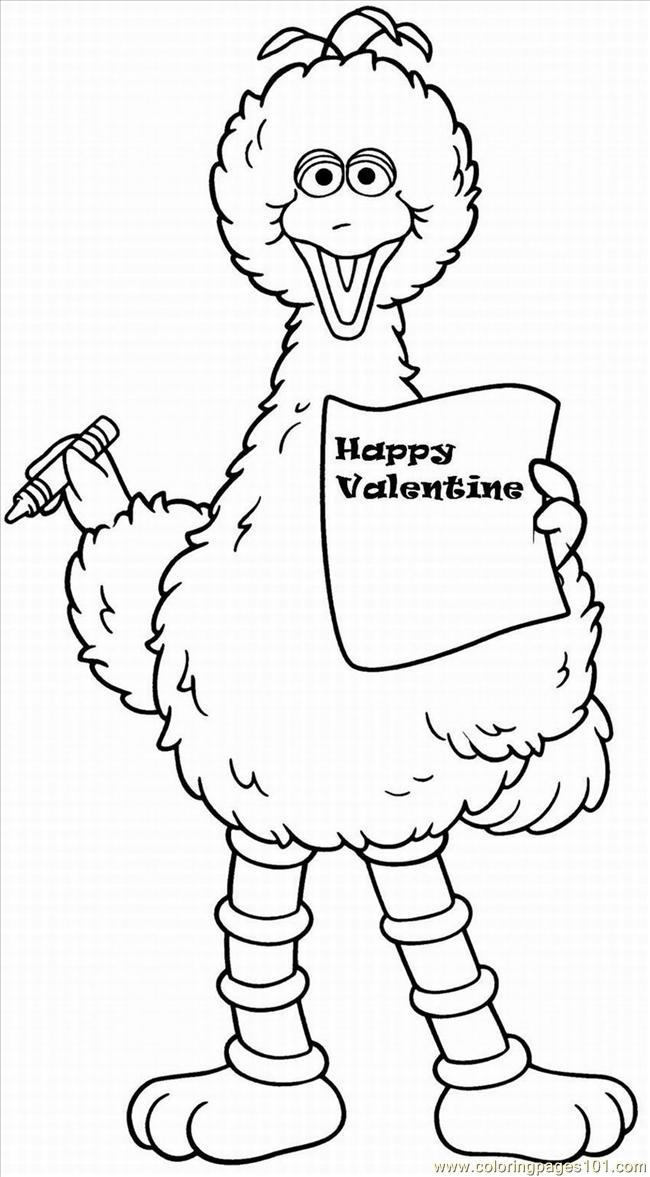 Valentine Lrg Coloring Page