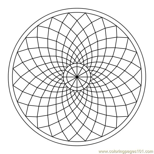 Flowering Circle Coloring Page Free Shapes Coloring Pages Circle Coloring Pages