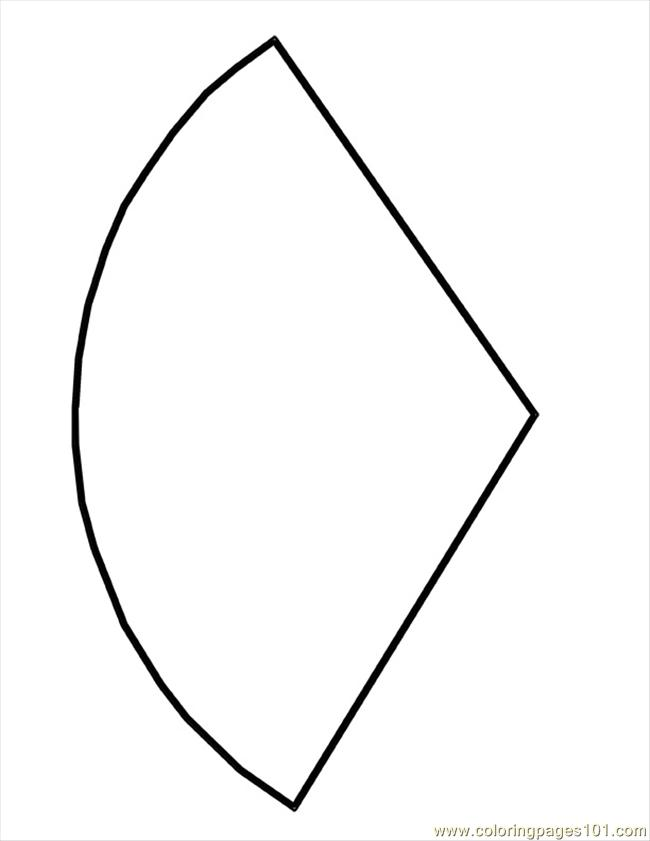 Cone Shape Template Coloring Page