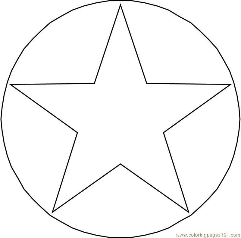 Circle Star Coloring Page Free Shapes Coloring Pages