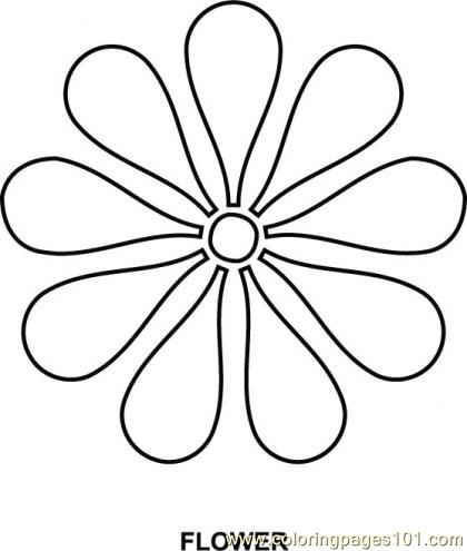 Flower Coloring Page Free Shapes Coloring Pages