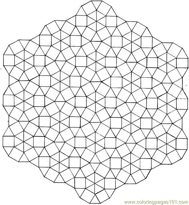 Circle small boxes Coloring Page
