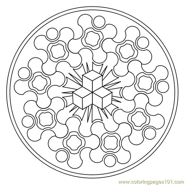 Small hexagon Coloring Page - Free Shapes Coloring Pages ...