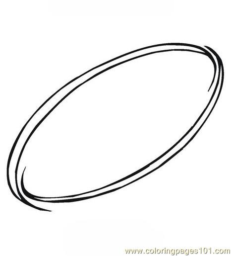 Oval Coloring Page Free Shapes Coloring Pages