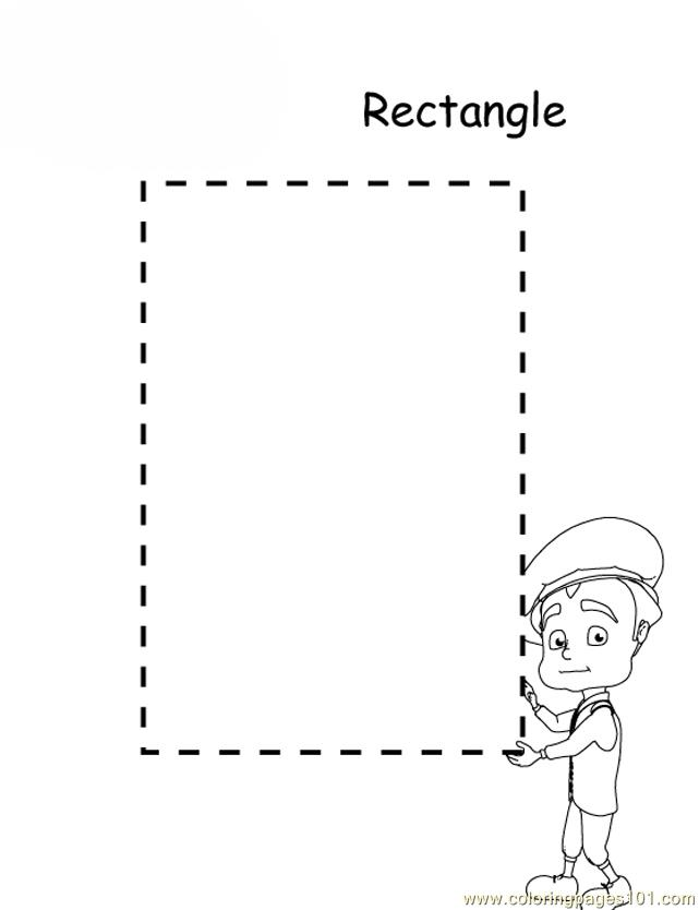 Rectangle Design Coloring Page