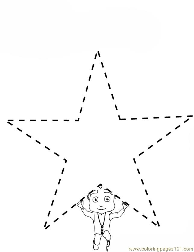 Dotted Star  Coloring Page