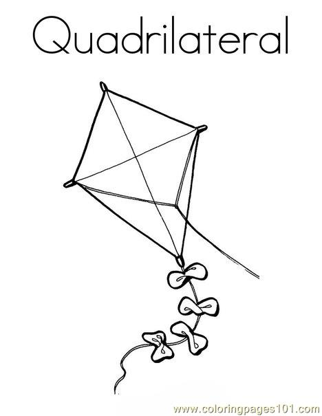 Quadrile Design Coloring Page
