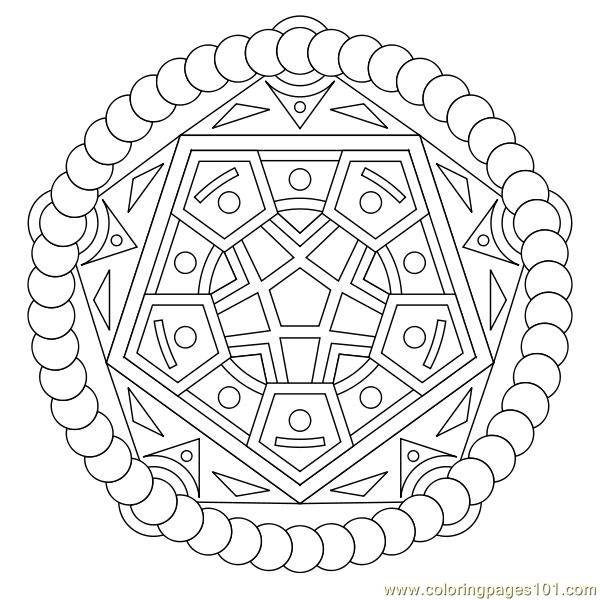 pentagon coloring page - pentagon circle coloring page free shapes coloring pages
