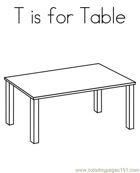 Table Coloring Page - Free Shapes Coloring Pages ...