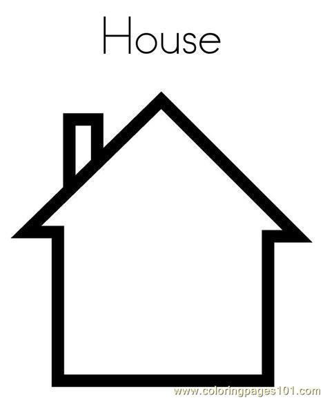 House Coloring Page Free Shapes Coloring Pages