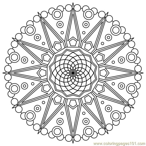 Star circle Coloring Page - Free Shapes Coloring Pages ...