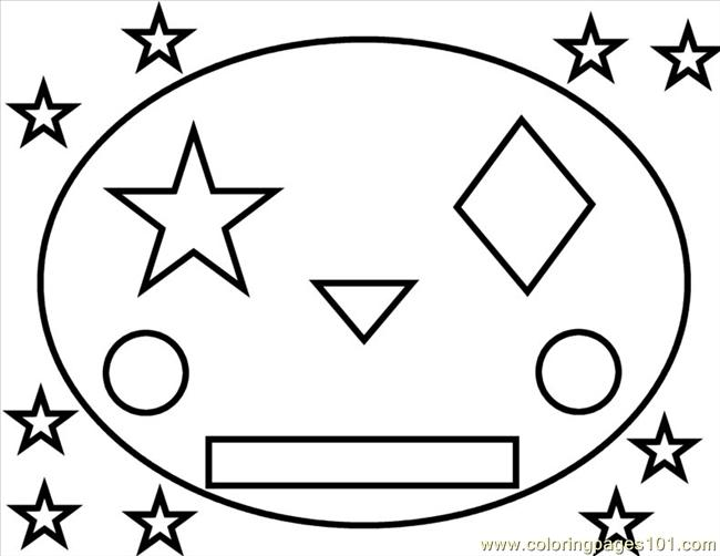 shapes face coloring coloring page