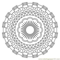Geometric circle Free Coloring Page for Kids