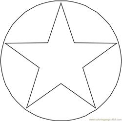 Circle star Free Coloring Page for Kids