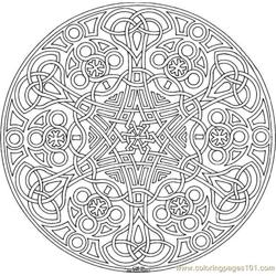 Geometric Free Coloring Page for Kids