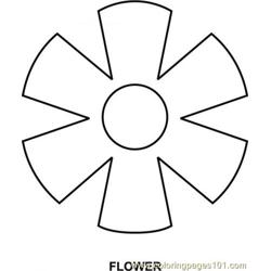 flower Free Coloring Page for Kids