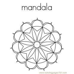 Mandala Shape Free Coloring Page for Kids