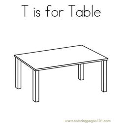 Table Free Coloring Page for Kids