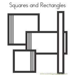 Squares and rectangles Free Coloring Page for Kids