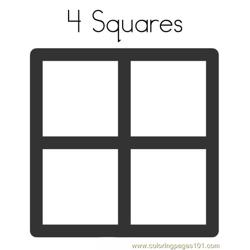 Four squares Free Coloring Page for Kids