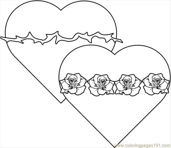 Twohearts Coloring Page Free Shapes Coloring Pages