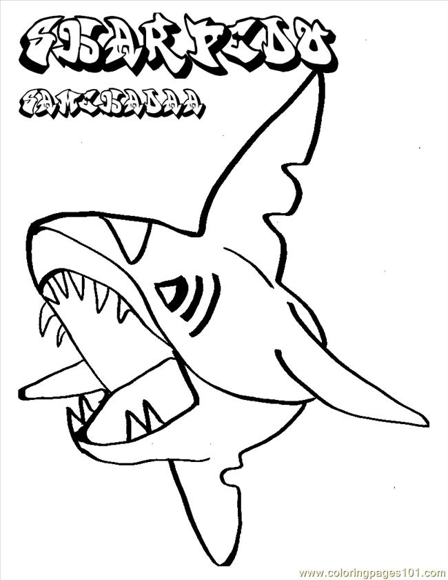 Pokemon Shark Coloring Page Free Shark Coloring Pages