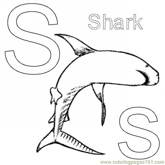 Shark Coloring Pages Pdf : Ss coloring page free shark pages