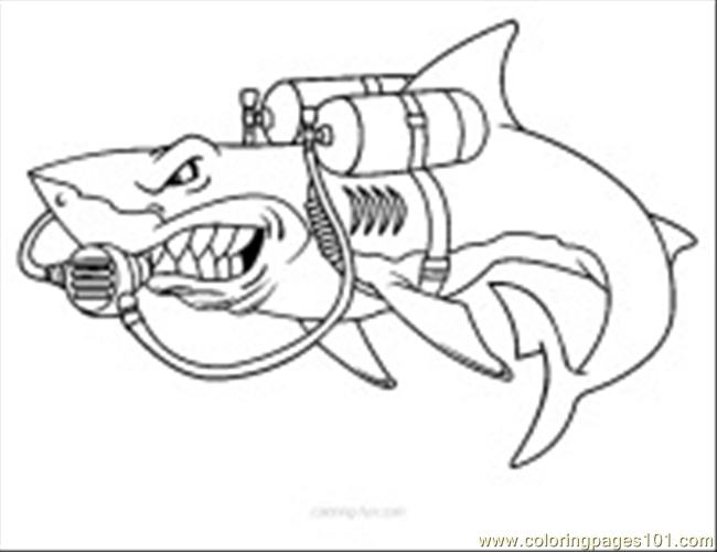 Scuba diving21 coloring page free shark coloring pages for Scuba diver coloring page