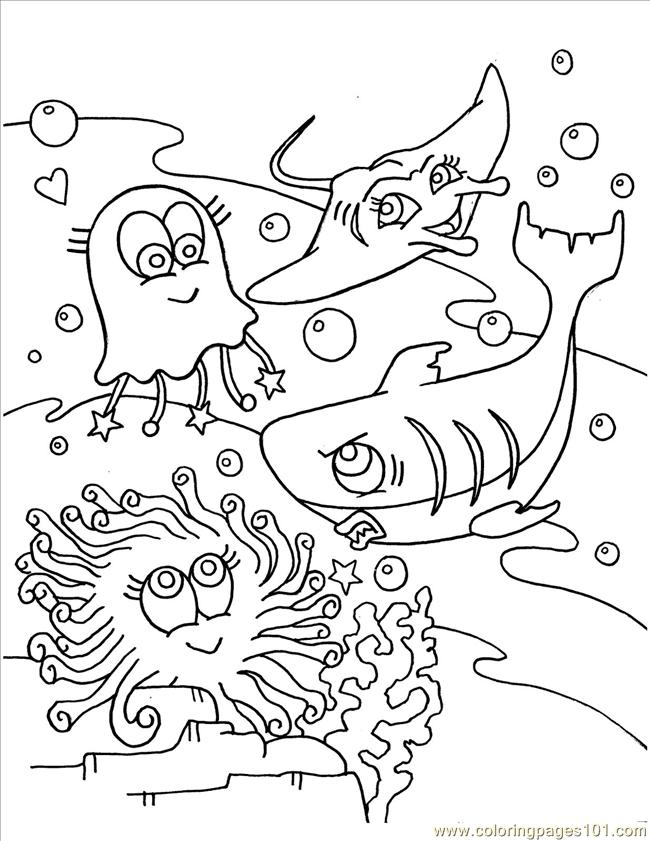 10 Fancy Baby Shark Coloring Pages with Scenes for Little Ones ... | 841x650