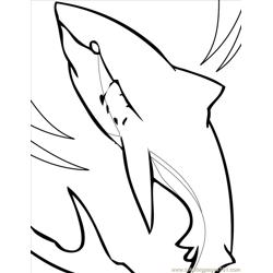 Great White Shark Ink Free Coloring Page for Kids