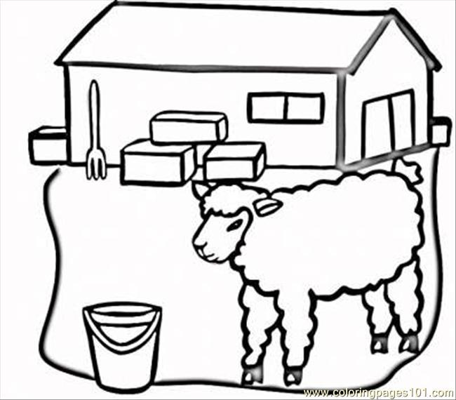Farm Barn Coloring Pages Barn Coloring Sheets Sheet Popular Pages ...