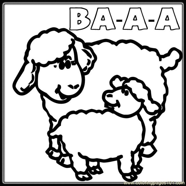 mother baby sheep coloring coloring page