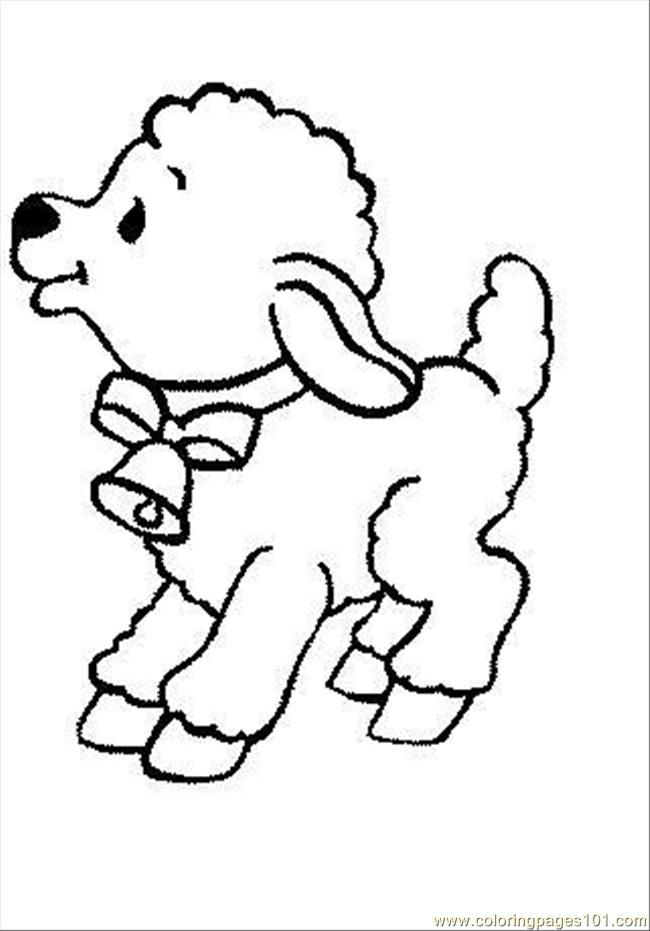Sheep2 Coloring Page Free Sheep