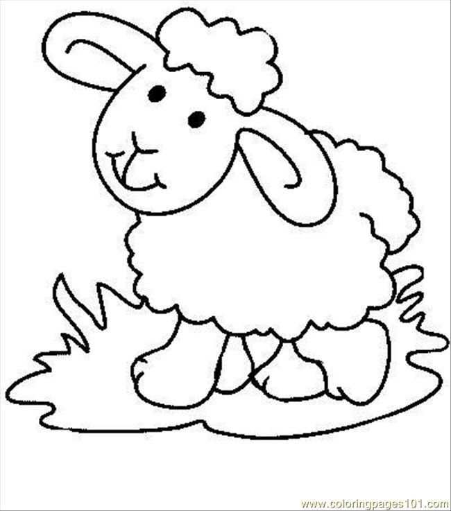 Sheep7 Coloring Page Free Sheep